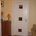 Fehér festett mdf beltéri ajtó