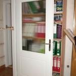 Félig üveges festett mdf beltéri ajtó