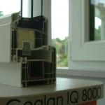 Gealan IQ 8000 műanyag ablak habtöltéssel
