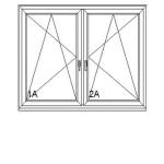 bukó-nyíló + bukó-nyíló műanyag ablak